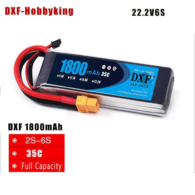 2017 DXF RC Lipo Батарея 22.2v 6S 35C 1800mAh для RC - Радиоуправляемые игрушки