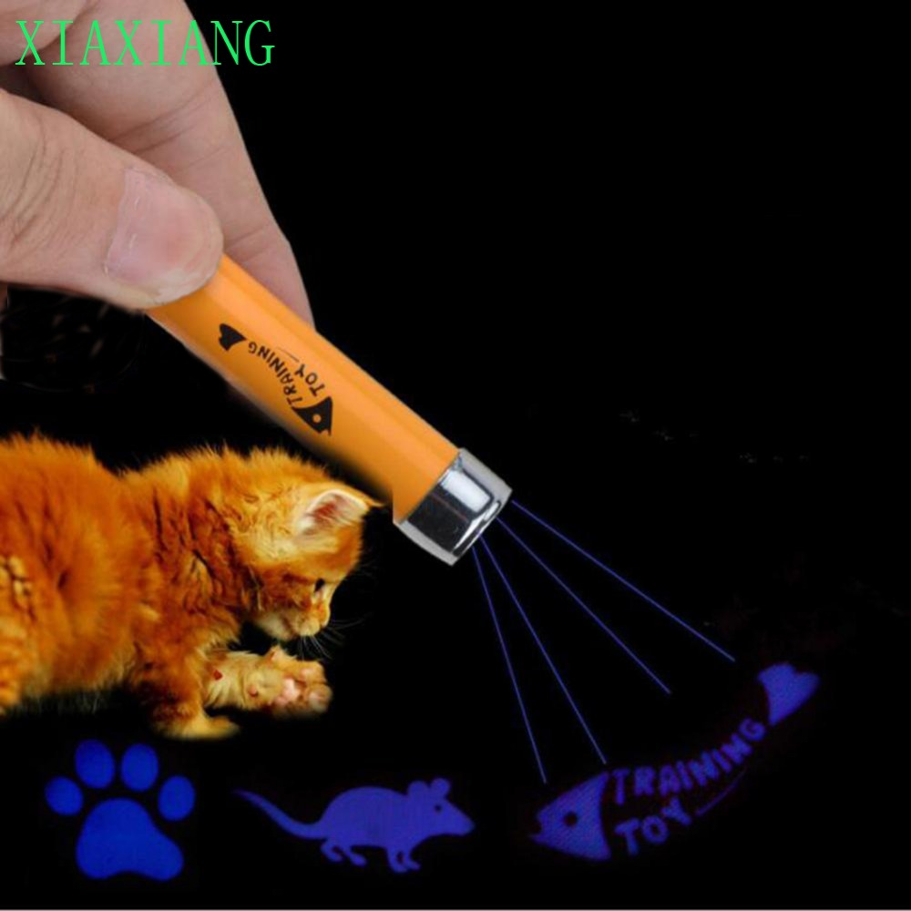 1Pc Creative Funny Pet Cat Legetøj LED Pointer Lys Pen med Bright Animation Mouse Shadow Cat's Favor Pet Funny Toy # A05