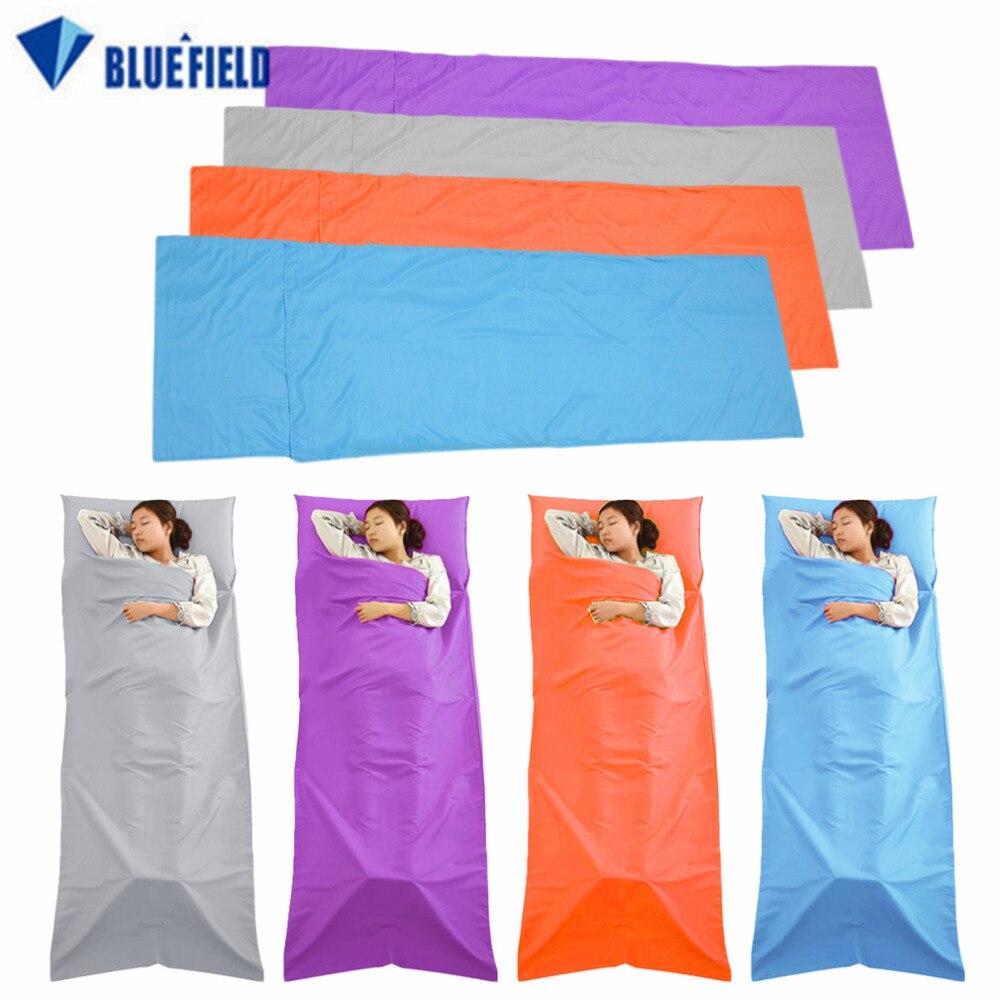 Bluefield Сверхлегкий Открытый спальный мешок лайнер полиэстер pongee Портативный один спальный мешок Отдых Путешествия сна мешок