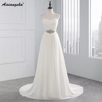 Vestidos De Novia Sexy Chiffon Beach A Line Vintage Boho Cheap Wedding Dress 2015 Robe De