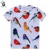 Teenager Boy Shirt 3D Bird Printed Boys Polo Shirt Short Sleeve Bobo Choses Boys T Shirts