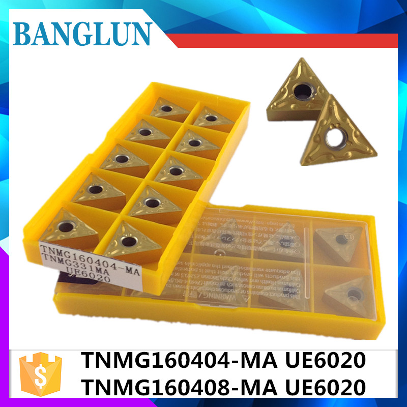 20pcs TNMG160404 MA UE6020 TNMG160408 MA UE6020 External Turning Tools Carbide inserts Cutting Tool CNC Tools Lathe cutter tools
