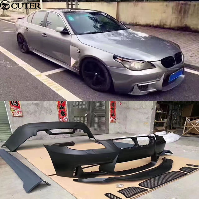 E60 525i 1m Style Car Body Kit Pp Unpainted Front Rear