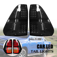Smoked Car LED Rear Tail Lights Brake Lamps For Toyota Hilux Vigo Revo 2016 2018 ABS 32x38cm Easy to Install