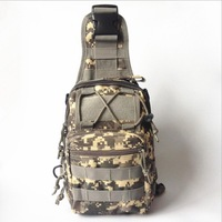 Hot Sell Canvas On Camouflage Field Tra Nsport Small Chest Package One Shoulder Aslant Bag Chest