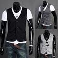 Hot 2016 New Arrival! Men Suit Vest Slim Dress Vests Men's Fitted Leisure Waistcoat Casual Business Vest Three Buttons