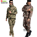 Tactical Gear Softshell Camouflage Jacket Men Army Waterproof Warm Camo Clothes Windbreaker Fleece Coat Military Jacket Armband