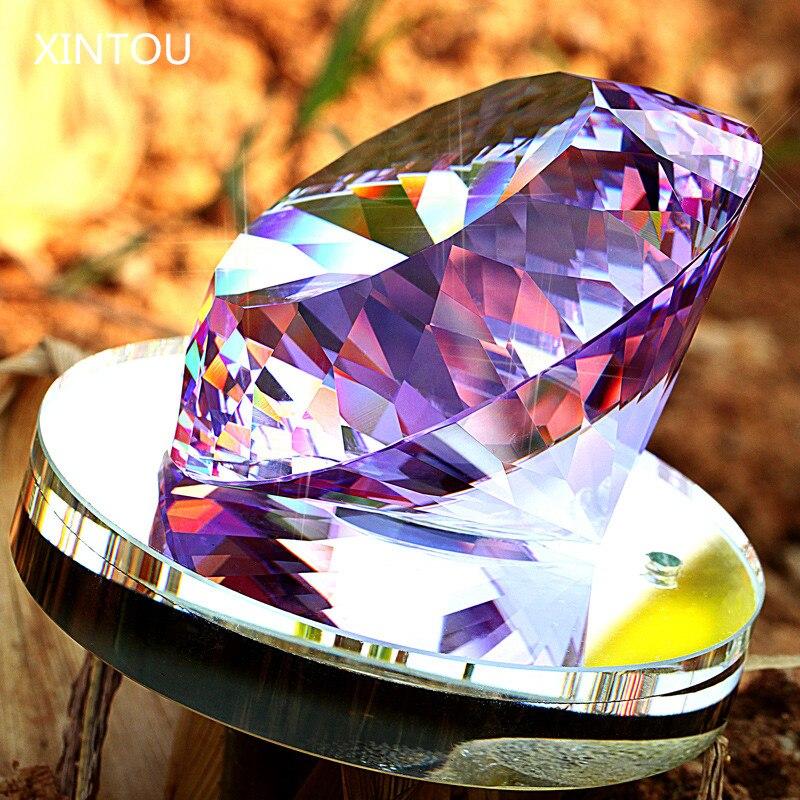 XINTOU Grand Verre de Cristal de Diamant Bouteille De Parfum Étincelle De Mariage Accueil Bureau Ornements De Voiture Désodorisant Bouteilles Décoratives Artisanat