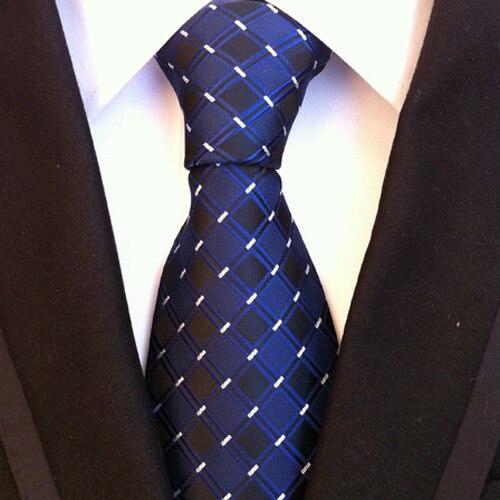 0ceba2098 الأزياء التعادل الرجال أعلى مستوى المنسوجة ربطة العنق الأزرق الملكي مع  شبكات الداما