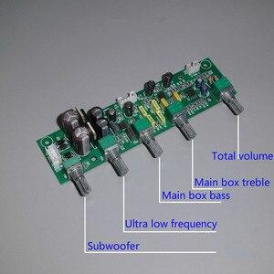 Image 5 - GHXAMP NE5532 Subwoofer Voorversterker 2.1 Voorversterker Toon Boord Treble Bass Ultra lage frequentie Onafhankelijke Aanpassing Dual AC12V 1 pc