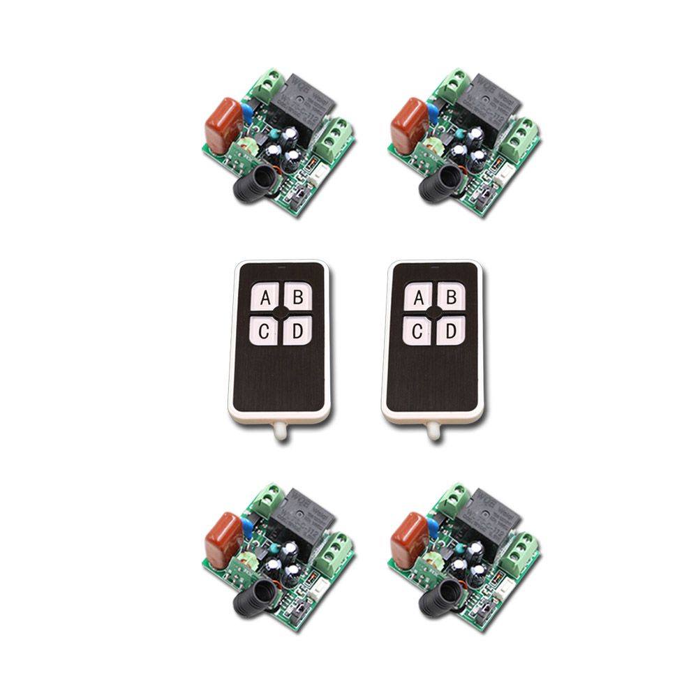 Lovely Mini 220V 1CH 10A 4Receivers(Mini size)+2Transmitter(Waterproof) RF Wireless Remote Control Power Switch System For Home 315mhz 433mhz mini size 1receiver 2transmitter rf 220v 1ch wireless remote control power switch system for led light lamp