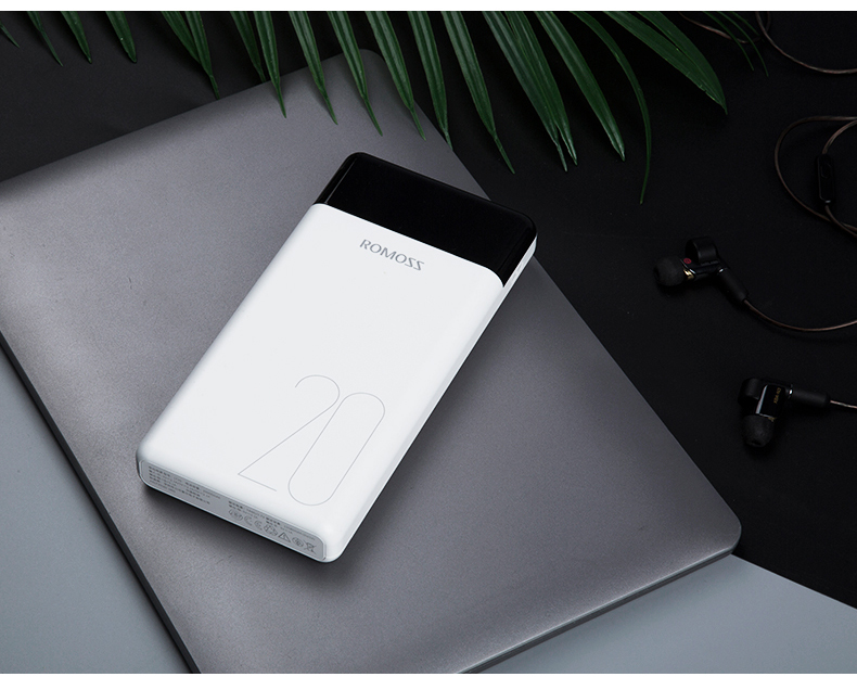 ROMOSS LT Power Bank 000mAh Dual USB Portable Charger With LED Display Fast External Battery For Phones Tablet Xiaomi 23