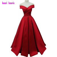 Simple Style Red Evening Party Dresses 2018 Sexy Sweetheart Ruched Satin Lace Up Lady Evening Gowns Long Formal Dress Real Image