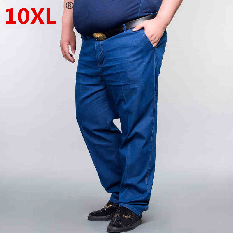 Plus 10XL 8XL 6XL 52 50 New 2018 spring Jeans Men Vintage Denim Pants Casual Pants Slim Fit Brand Clothing Male Denim Trousers stels navigator 570 2015