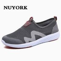 NUYORK 2017 estilo clásico de verano zapatos netos de los hombres para el hombre de los zapatos ocasionales respirables bajos masculinos Coreanos a pasear diariamente perezosos