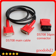 Car OBD2 Cable For autel DS708 Connect test cable and ds708 connector 16pin obd2 adapter for MaxiDas