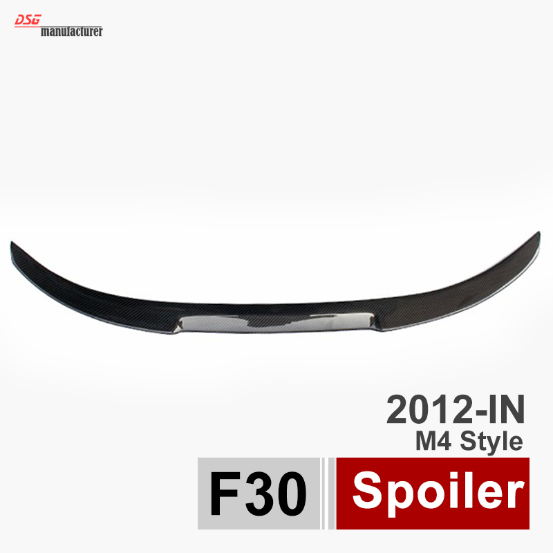 m4 style carbon fiber rear trunk spoiler car wing for bmw 3 series 316i 316d 318d 320i 320d 325d 328i 330d 335i 335d  f30 f80 M3 полуось на bmw 316i в беларуси