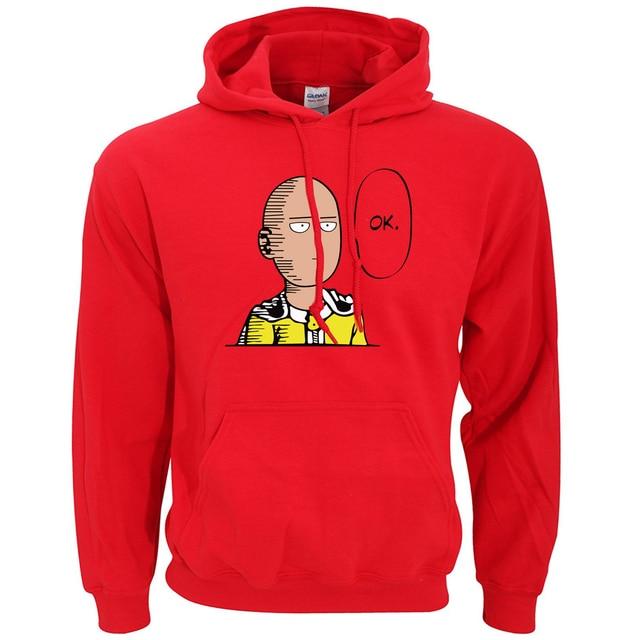 One Punch Man Hoodie OK Printed Men Sweatshirts