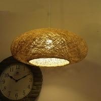 creative personality restaurant art bar Bamboo Personalized fashion retro Pendant Lights oval rattan lamp Pendant lamps ZA zb10