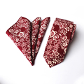 Fashion Tie Set Floral & Paisley Tie & Handkerchief Set New arrival Pocket Square for Mens Suit Neckwear for Wedding Gifts