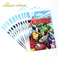 500pcs Lot The Avengers Theme Party Gift Bag Party Decoration Plastic Candy Bag Loot Bag For