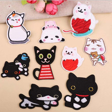 DOUBLEHEE Black White Animal Patch Embroidered Patches For Clothing Iron On Close Shoes Bags Badges Embroidery