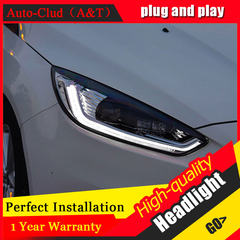 Auto Clud Car Styling For Ford Focus headlights For Focus head lamp led DRL front Bi-Xenon Lens Double Beam HID KIT auto clud style led head lamp for benz w163 ml320 ml280 ml350 ml430 led headlights signal led drl hid bi xenon lens low beam