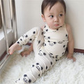 2016 new summer fashion children's short sleeve t-shirt pants vest Baby cotton mouse pattern for boy girl clothes