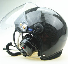 Real carbon material Paramotor helmet with noise cancel font b headset b font Factory directly sale