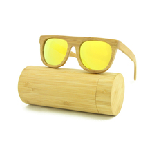 Fashion 100% Recycled Bamboo Sport Mens Wood UV400 Sunglasses Brand Designer Luxury Round Polarized Outdoor Glasses with Box