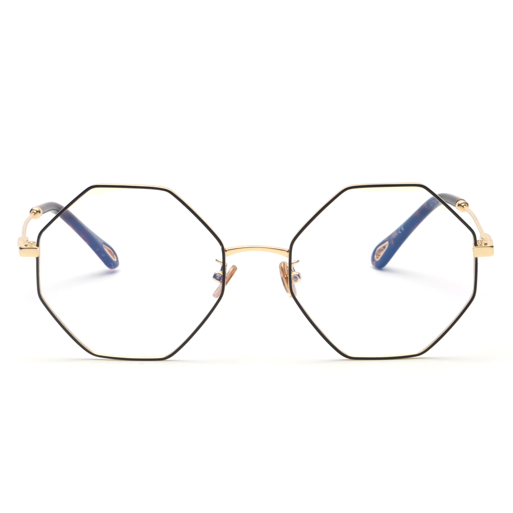 03a7b35735 Kachwoo fashion optical eyeglasses frame women computer polygon big vintage octagonal  glasses frames for men gold metal-in Eyewear Frames from Apparel ...