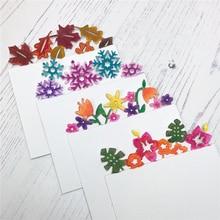 DiyArts 4 Pcs/lot Metal Cutting Dies Scrapbooking For Card Making DIY Embossing Cuts New Craft Flower Snow Decoration Element