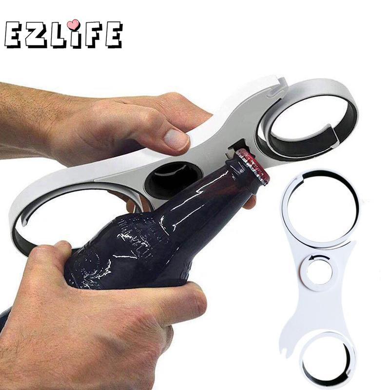 EZLIFE 5 In 1 Can Opener Manual Non-slip Twist Cap Bottle Launcher Opener Lid Screw Jam Bottle Opener Kitchen Gadget LPT4814