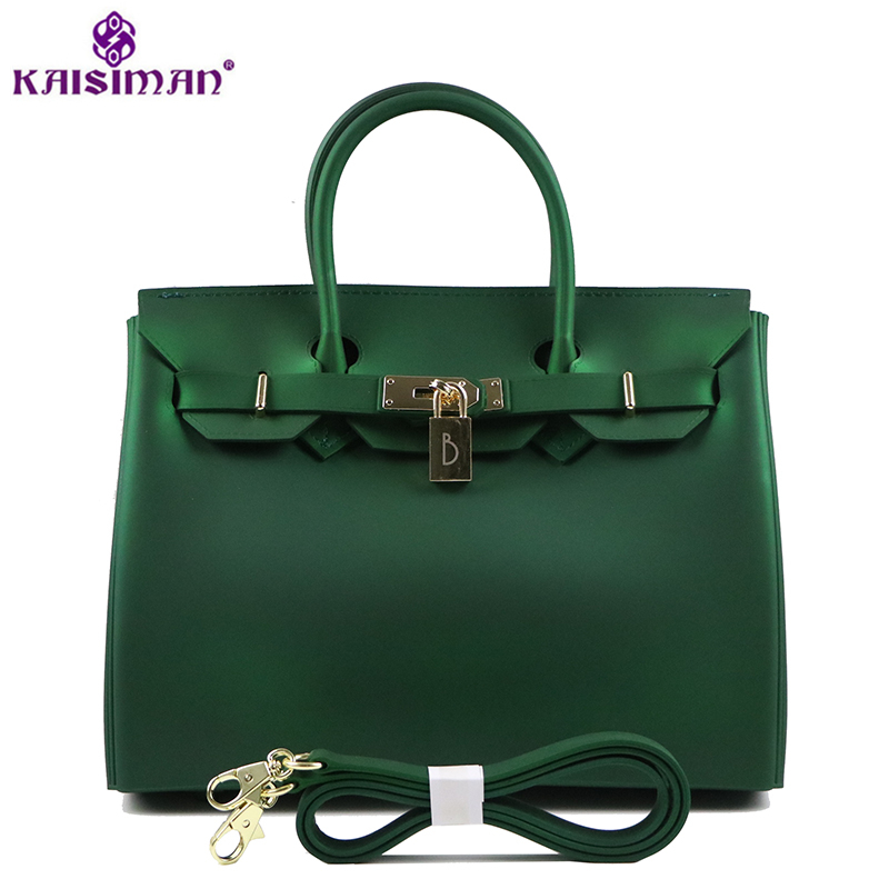 Luxury Fashion Women PVC Tote Bags Platinum Handbags Famous Brand Lock Designer Women Top-handle Bags Big Jelly Shoulder Bag Sac hot sale 2016 france popular top handle bags women shoulder bags famous brand new stone handbags champagne silver hobo bag b075