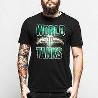 Summer Brand Clothing World Of Tank T Shirt Mens Black 3D Print Short Sleeve Cotton Tshirt