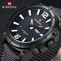 Homens de Luxo Da Marca Naviforce Militar Relógios Quartz Analógico Moda Relógio de Nylon Esportes Masculino Relógios Relógio Do Exército Relogios masculinos