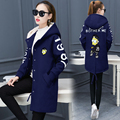 2016 Autumn Women Harajuku Loose Fit Jackets Long Sleeve Emboridery Street Fashion Outwear Casual Student Windbreaker