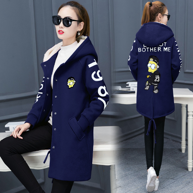2016 Autumn Women Harajuku Loose Fit Jackets Long Sleeve Emboridery Street Fashion Outwear Casual Student Windbreaker