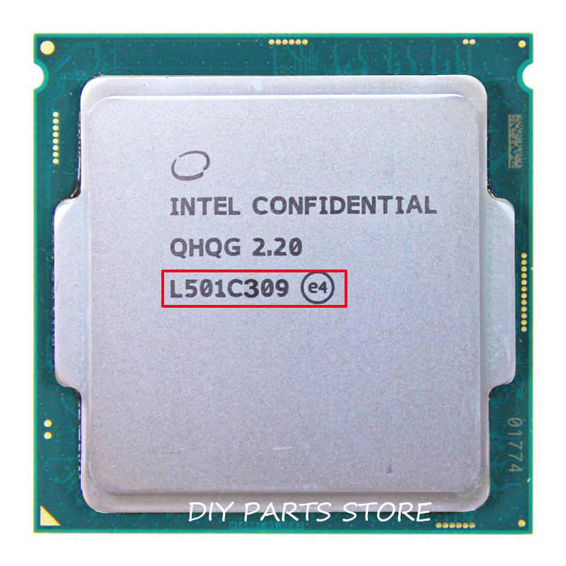 INTEL QHQG Engineering version ES of I7 6400T I7-6700K 6700K processor CPU 2.2GHz Q0 step quad core quad-core socket 1151