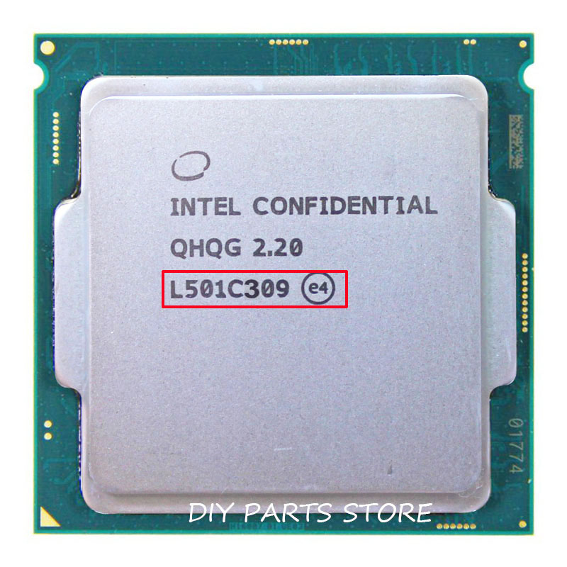 Intel core i7-6700K  i7 CPU processor QHQG L501 2.2 Turbo Frequency