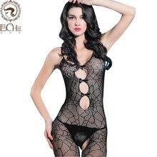 Leechee mujeres sexy Lencería transparente abrir la entrepierna arco  hueco-hacia fuera bodystocking erótica ropa interior trajes. 2a684b67d2cd