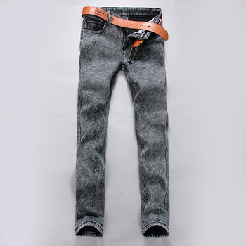 Slim fit The cowboy trousers leisure comfortable Pure color trousers