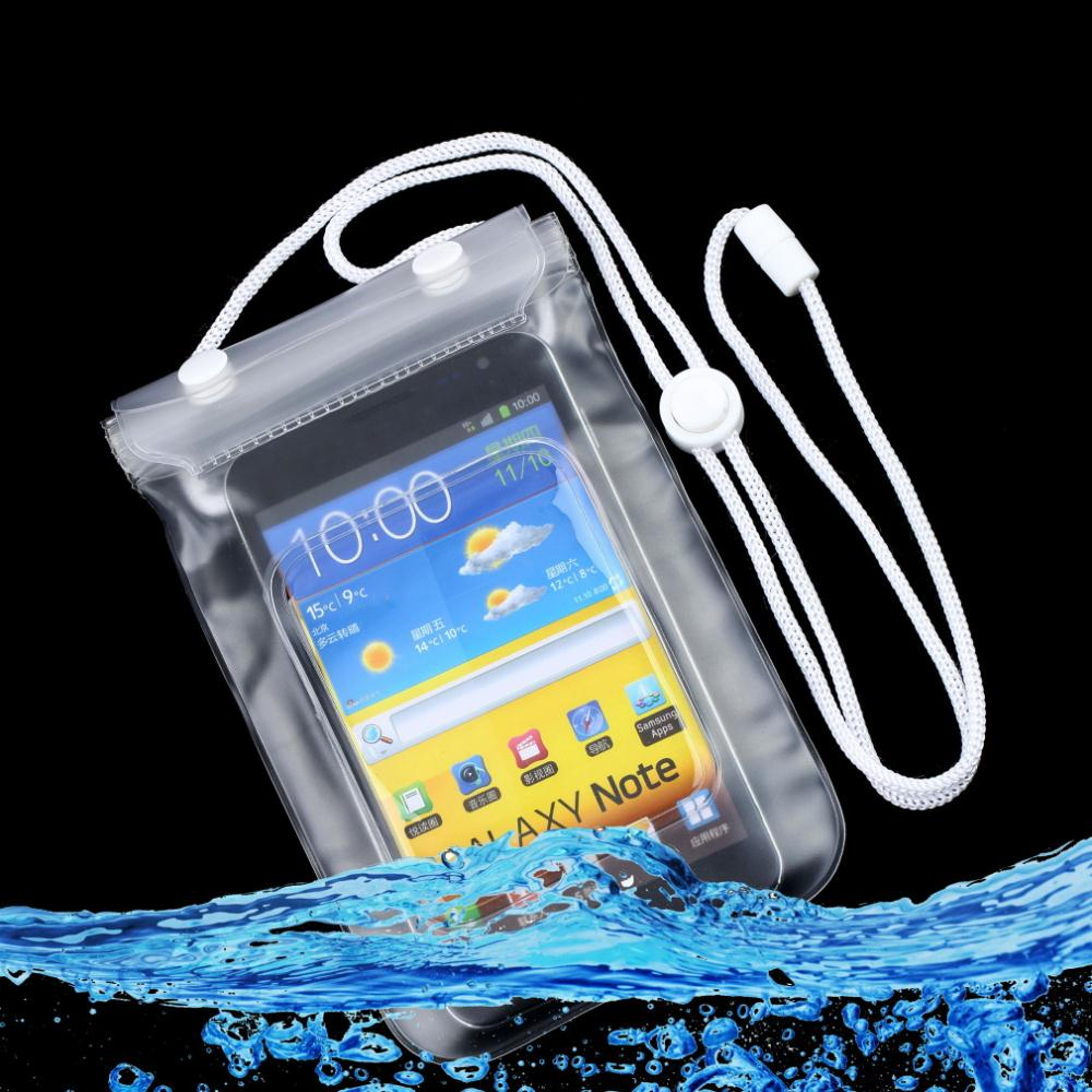 1pcs Waterproof Dry Bag Mobile Phone Case Transpa With Scrub Sealed Pouch