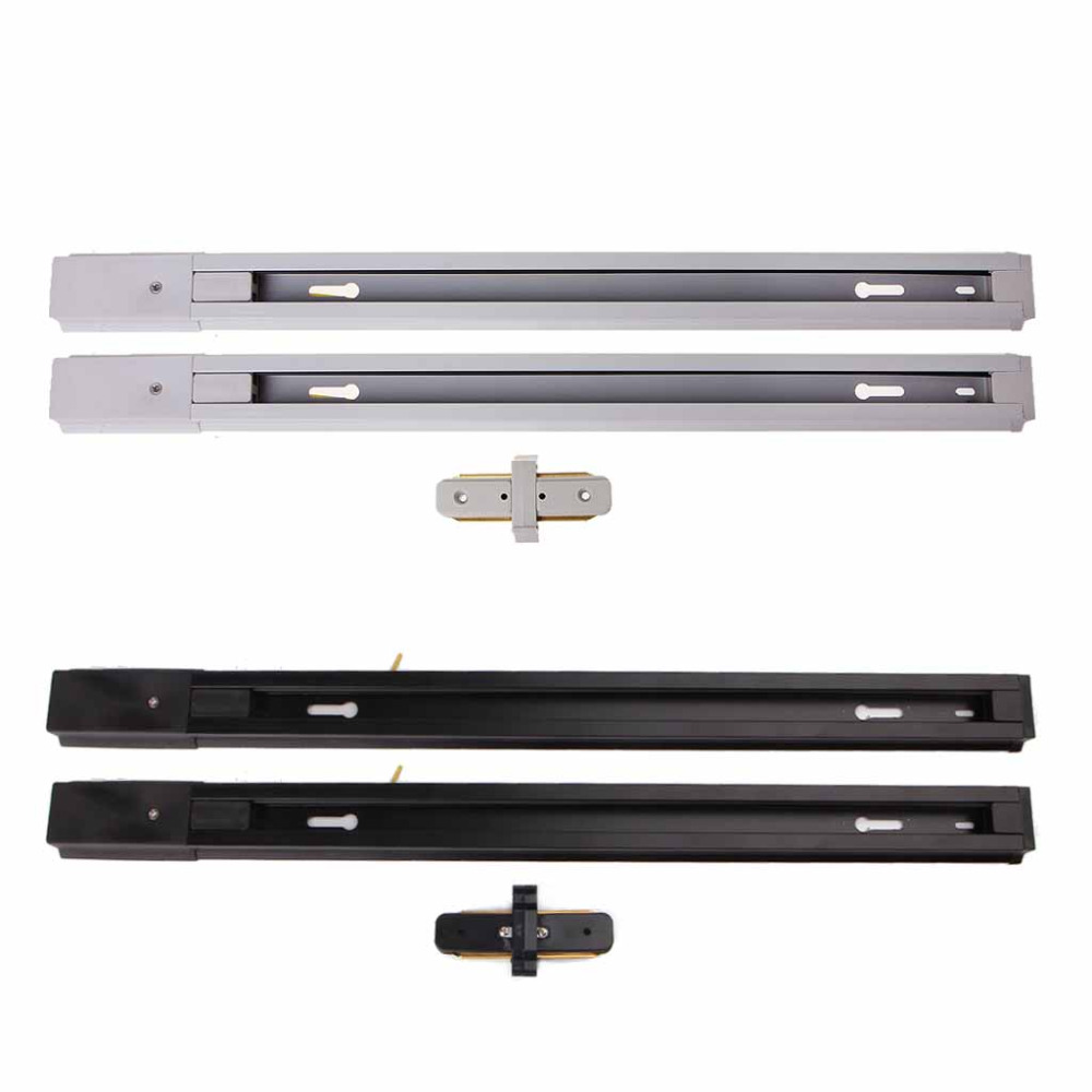 2Pcs Aluminum LED Track Light With Connector Universal Rail Aluminum Track Light