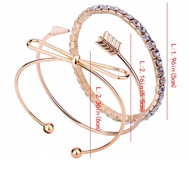 3 шт/компл браслеты в богемном стиле с бантом со стразами круглые фотография