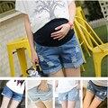 Para Las Mujeres Embarazadas Pantalones Cortos de Maternidad Cuidado Del Vientre Pantalones Cortos Pantalones Cortos de Mezclilla para Mujeres Embarazadas Bastante mini shorts Chica estilo