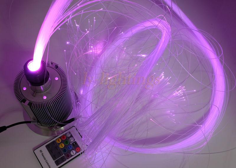 Personnels maison décoration DIY fiber optique lumières kit led lumière avec 200 brins de fiber optique RGB changement de couleur d'étoile plafond lumière