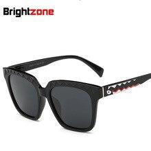 New Pattern Polarized Light Sunglasses Shark Frame Sun Glass