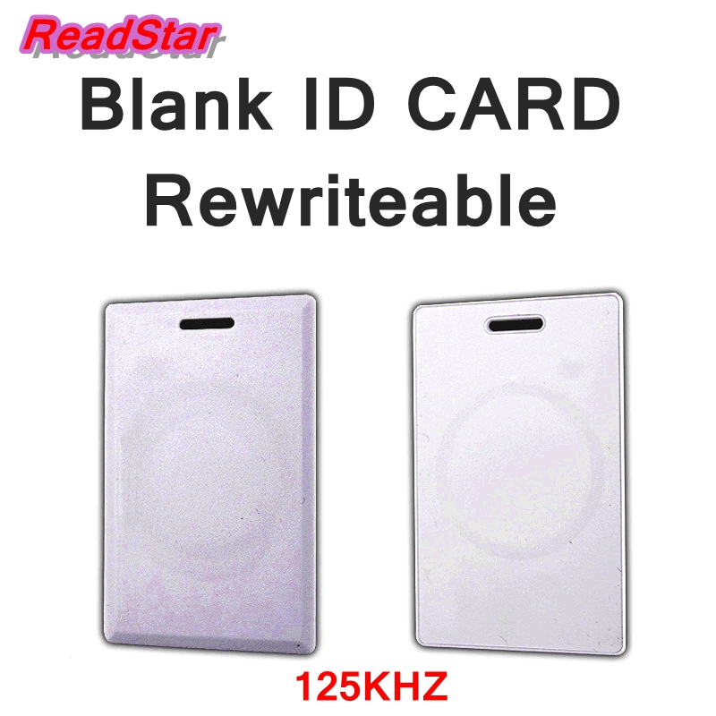 1PCS rewriteable ID Blank card EM4XX ID blank card 125KHZ Entrance guard / Fitness center/parking /elevator card