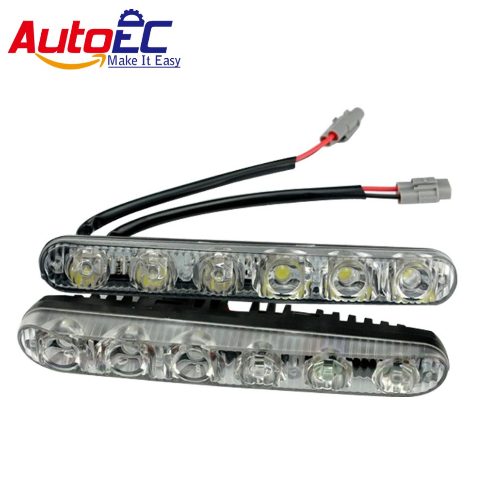 AutoEC High Power 12 Led 36W Universal Car Light Source Waterproof DC12V DRL Daytime Running Light Auto Lamp White #LM38 high quality h3 led 20w led projector high power white car auto drl daytime running lights headlight fog lamp bulb dc12v